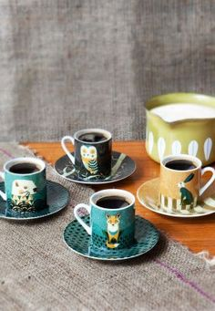 Wildlife - Set Of 4 Espresso Cups from Magpie