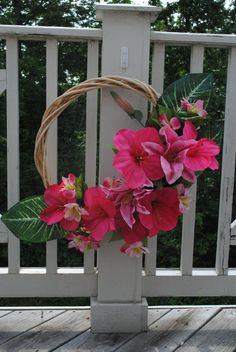 Hawaiian Dreams Wreath by YourDecoratedDoor on Etsy, $47.00
