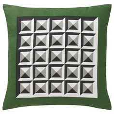 Dwell Studio Kelly Green Deco Pillow. Green Decor