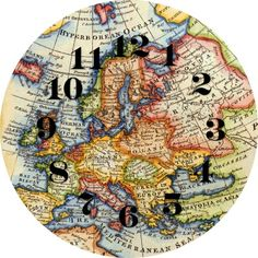Mod Podge Map Clock Tutorial {More Mod Podge Maps and a Moodboard} - Simplicity in the South