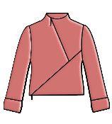 Выкройка блузки: блузка с молниями
