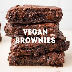 Easy, delicious vegan brownies! These will cure your chocolate craving for sure.