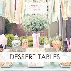 Hundreds of party ideas! dessert tables, birthday, parties, parti theme, anniversary themes, bridal shower, dessertcandi buffet, parti idea, party ideas for all ages