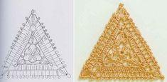 Triangle Motif free crochet graph pattern