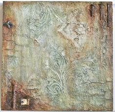 Esther Orloff. Finding Beauty mixed media painting