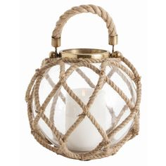 A rope handle and netting make this lantern a patio must-have. | $192