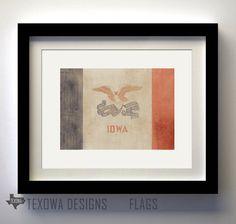 Iowa Flag Print