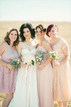 Bridesmaid dresses #White #Pastel #Rose #Pale #Pink #Blush Wedding ... Wedding Inspirations  ... #budget #wedding #ideas #app ........ https://itunes.apple.com/us/app/the-gold-wedding-planner/id498112599?ls=1=8