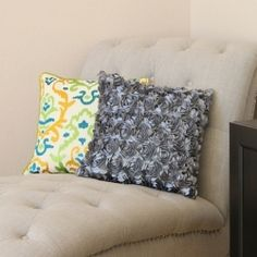 Decorative satin flower pillow...made easy