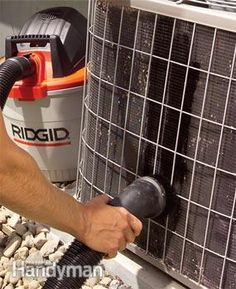 Clean Your Air Conditioner Condenser Unit - Step by Step | The Family Handyman Good for us lowly students if our ac units are in a location we can reach... Adding to my list of spring cleaning chores