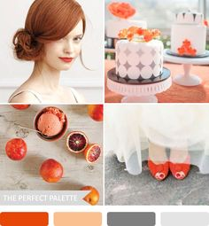 Party Palette | Shades of Orange + Gray