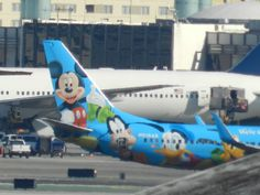 Alaska airlines Disney logo jet
