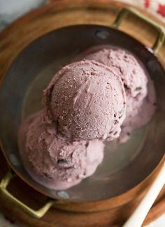 Dark cherry ice cream