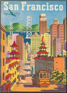 Vintage San Francisco Poster Print