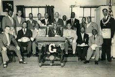 Grandmaster McCurdy with fellow Prince Hall Masons - Photo courtesy of Lois Larkin