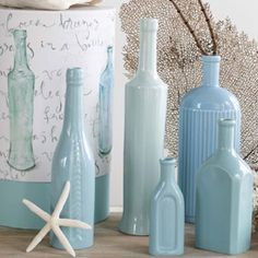 baby blue milk glass