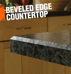 A beveled edge countertop has an angled cut where the countertop ends, giving the countertop a simple but polished look.