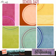 Free School Daze Journal Cards from Art For Scrapbooking {on Facebook}
