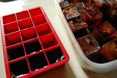 I always do this for iced coffee!!! You can brew your kuerig cups a second time and use the weaker coffee to make ice cubes. :)