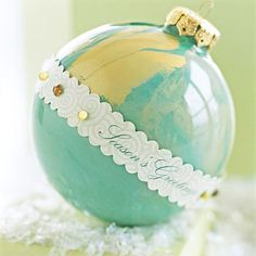 Pretty swirly, blingy ornament.  Add the names of the bride and groom for great wedding favors.