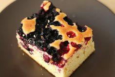 Finnish blueberry cake