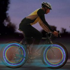 Psychedelic Wheel Lights - Includes 5 LED lights with 32 patterns. Each light runs on 3 AG10 batteries (included). LED light with neon color change. Waterproof. Easy assembly. Automatic motion sensor.