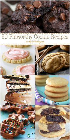 50 Pinworthy Cookie Recipes at chef-in-training.com ...These are some of the most tasty and unique cookies around the web! You HAVE to check these out!
