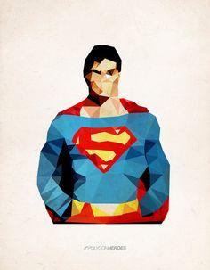Polygon Heroes - Superman  by TheBlackeningCo. $20
