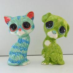 Ceramic Pity Kitty Bud Vase Figurine Vintage Design by fruitflypie, $49.99