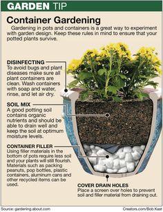 Container gardening tip