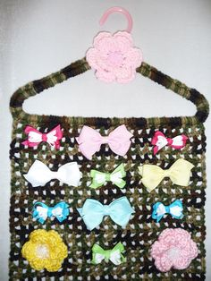 HAIR BOW HOLDER Camo Pink Camouflage Closet by CraftCreationsEtsy, $14.95