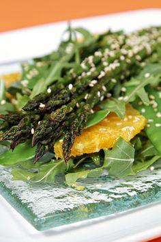 roasted asparagus salad with valencia oranges and ginger citrus vinaigrette