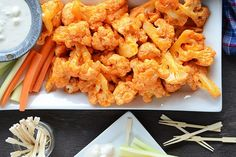 Cauliflower Buffalo Wings by anediblemosaic via tastykitchen. #Appetizer #Buffalo_Wings #Cauliflower #Healthy