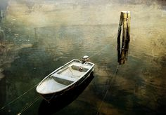 Lonely Boat 8x10 Original Photograph  Fine Art by kanelstrand, $24.00