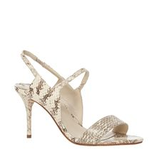 WAFT - SNAKESKIN HEELED SANDALS