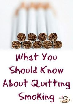 A must-pin if you or someone you know is trying to kick this nasty habit! http://thestir.cafemom.com/healthy_living/163281/the_1_thing_all_smokers?utm_medium=sm&utm_source=pinterest&utm_content=thestir