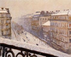 Boulevard Haussmann in the Snow, Gustave Caillebotte