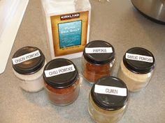 Baby food jars for those bulk spices I buy!  Self-Reliance by Jamie: Tis the Seasonings. . .