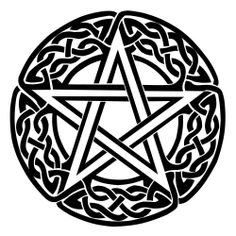 "4""  Pentagram Gloss Vinyl Car Sticker, Wicca, Witch, Pagan, Celtic"