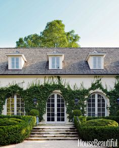 French Style House - House Beautiful EXTERIOR