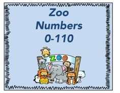 Zoo Theme Numbers  from Trishas Treasures on TeachersNotebook.com -  (14 pages)  - numbers 0-110