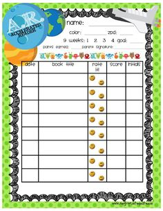 Freebie printable at simply sprout. perfect reading log for students