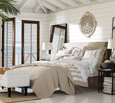 A calming neutral palette for the bedroom.
