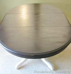 tutorial for painting table/staining top--my kitchen table needs some love whenever I get around to it!