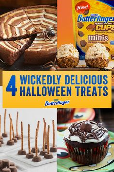 "Searching for some terrifyingly tantalizing treats for Halloween? These four spooktacular Butterfinger recipes are quick and easy-to-make and guaranteed to make your guests scream...with delight. Now, this is what we call <a class=""pintag searchlink"" data-query=""%23Hallowinning"" data-type=""hashtag"" href=""/search/?q=%23Hallowinning&rs=hashtag"" rel=""nofollow"" title=""#Hallowinning search Pinterest"">#Hallowinning</a>."