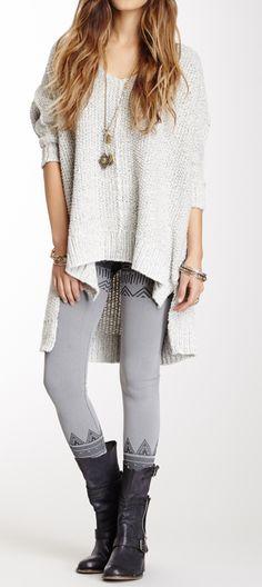 Chunky sweater + leggings