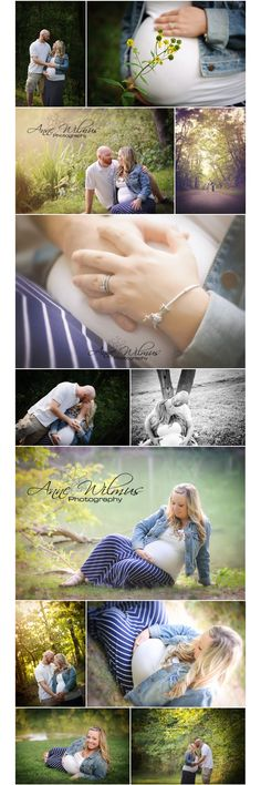maternity images in a park/natural setting