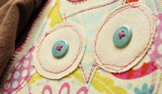 Owl applique pattern - I LOVE this girl's blog!