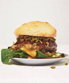 Mushroom Burger With Fontina and Cornichon Relish