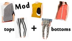 Mod top and bottoms for spring.